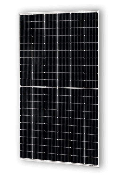 Frontalansicht des ASWS Solarmoduls Silver Style