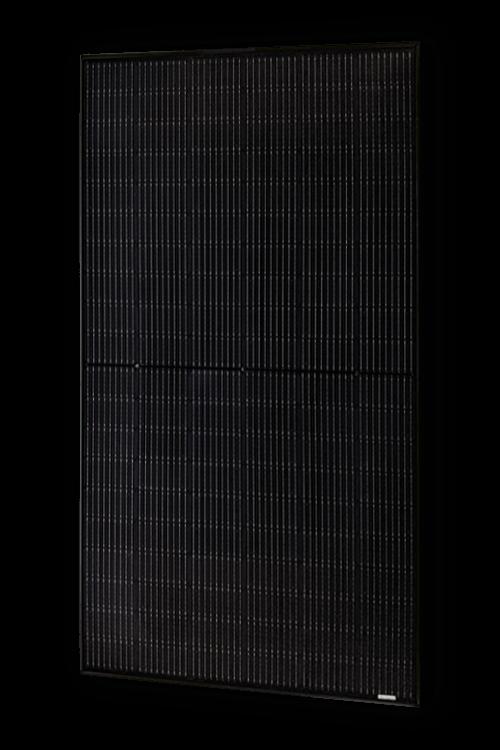 Seitenansicht des ASWS Solarmoduls Black Style